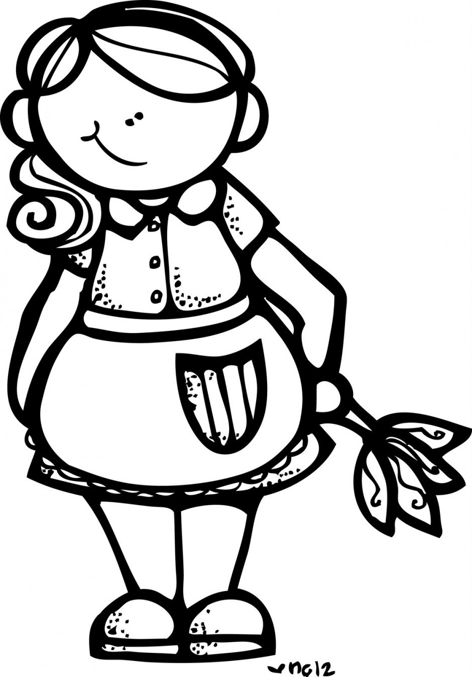 Portal . Aunt clipart black and white
