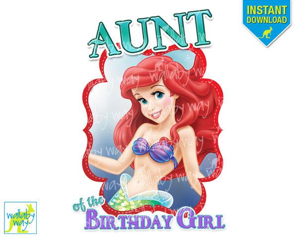 Ariel the little mermaid. Aunt clipart family