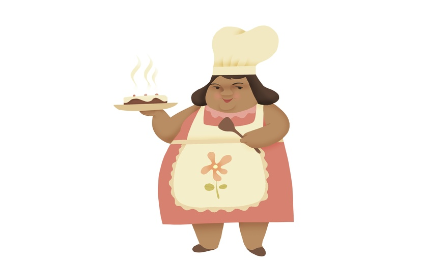 By shishir naik on. Aunt clipart fat