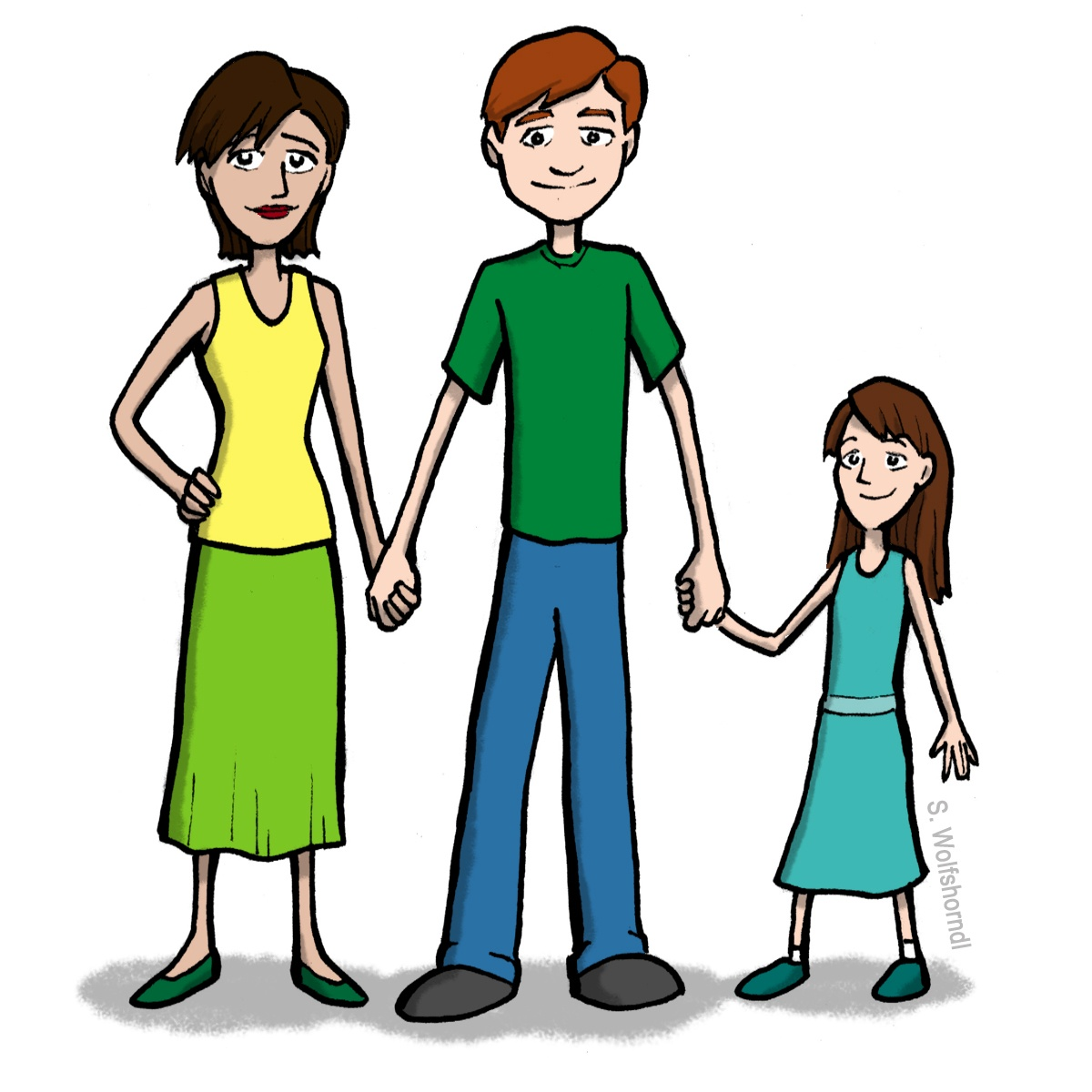 collection of and. Aunt clipart female cousin