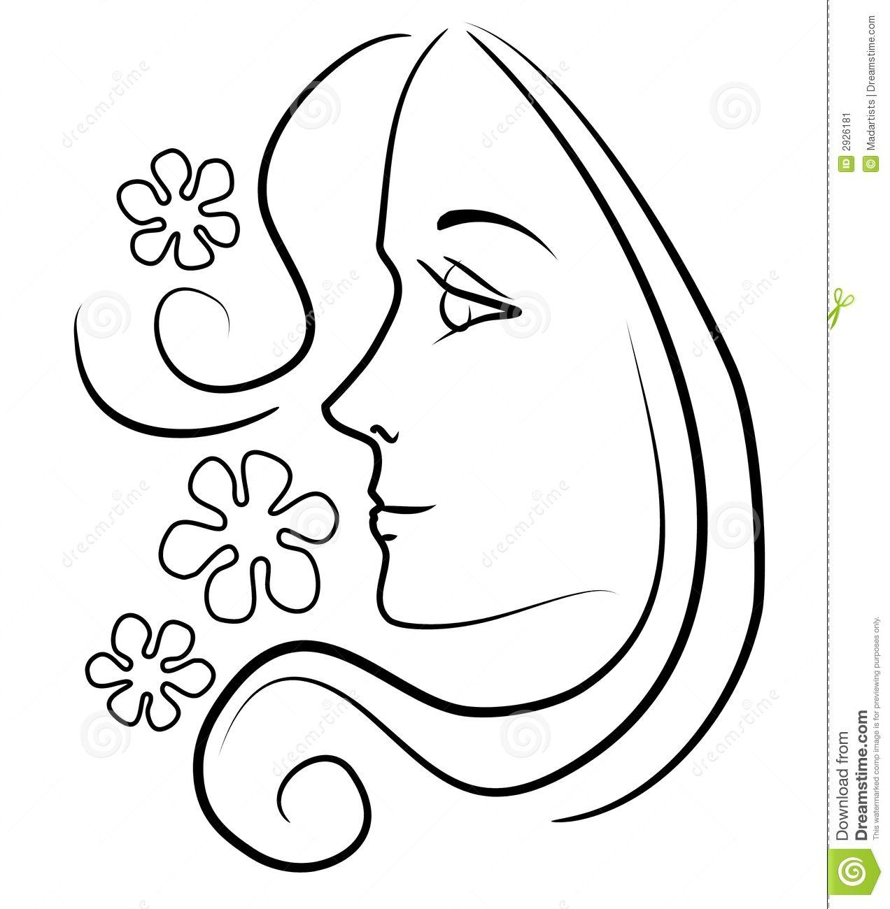 Clip art of a. Aunt clipart girl face