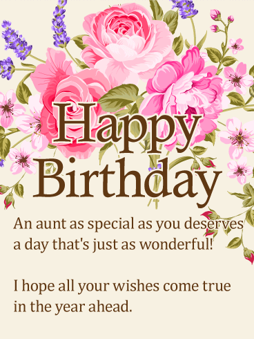 To my special wishes. Aunt clipart happy birthday