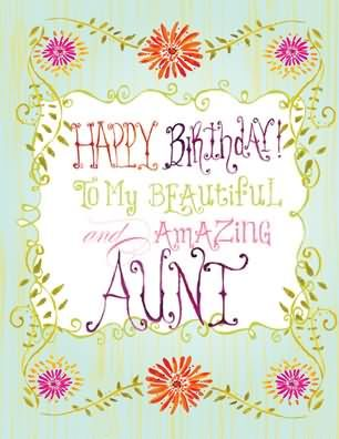 To my beautiful and. Aunt clipart happy birthday