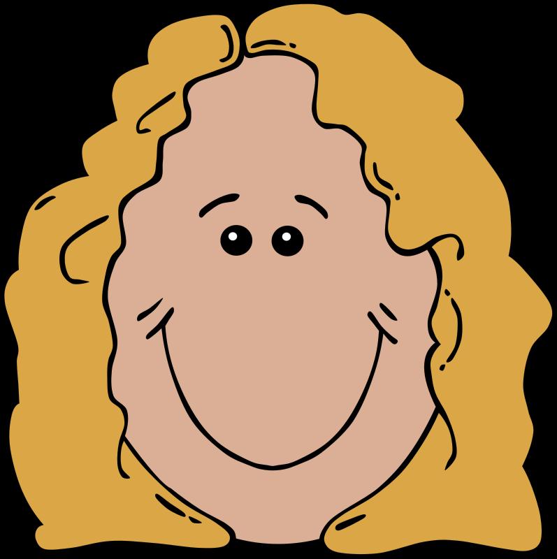 Free download clip art. Aunt clipart head