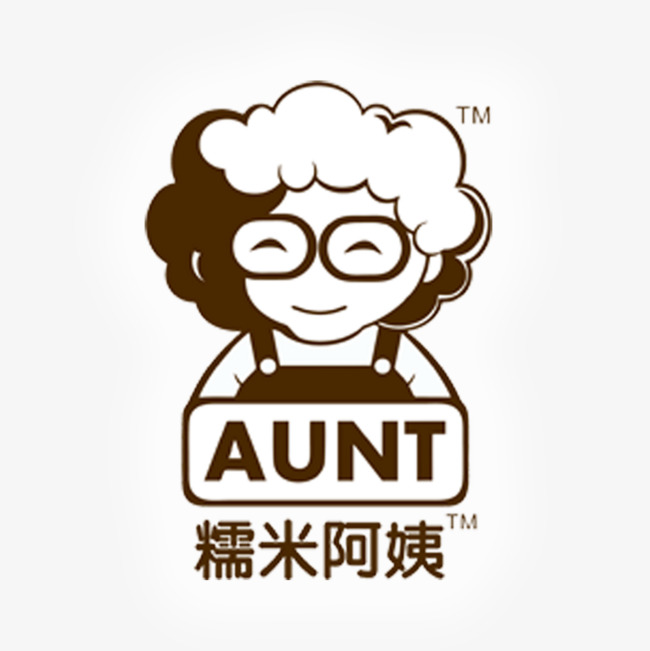 Aunt clipart head. Rice tea logo milk