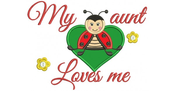 Aunt clipart kind lady. My loves me bug
