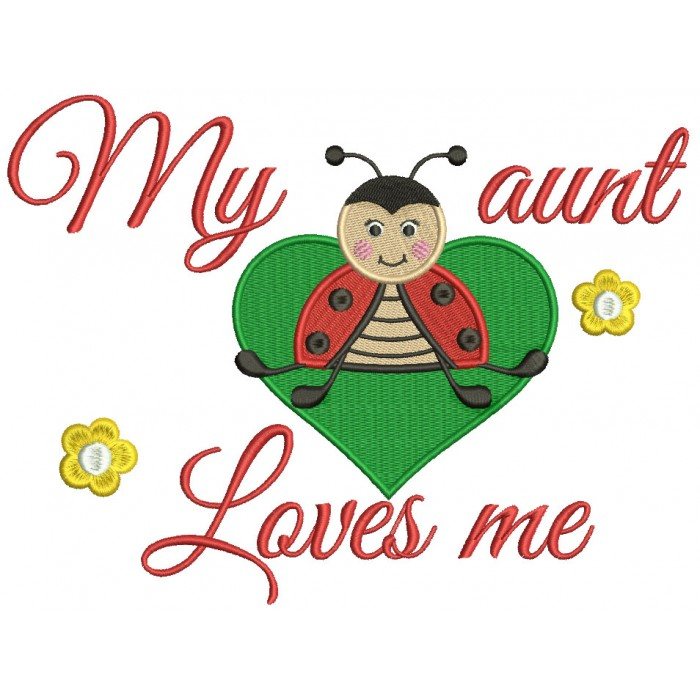 My loves me bug. Aunt clipart kind lady