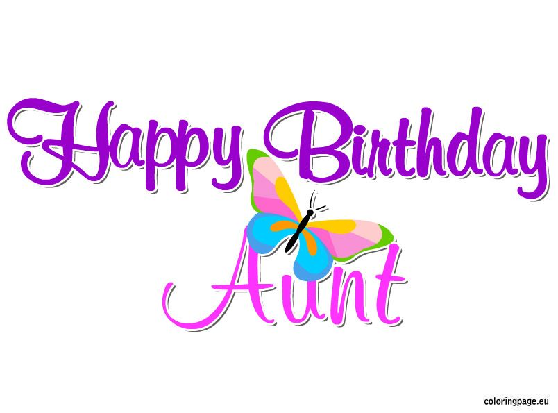 Aunt clipart mom happy. Birthday coloring page party