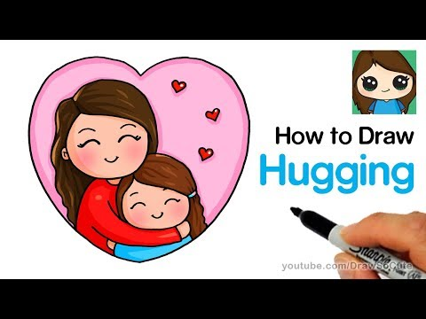 Aunt clipart mom happy. How to draw hugging