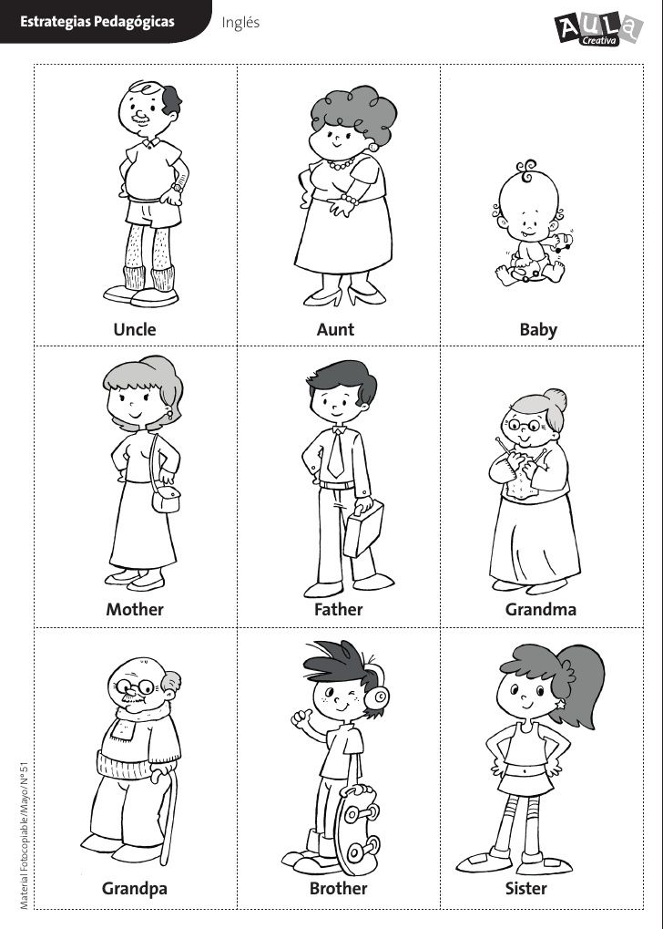 Aunt clipart mum. Family flashcards sister brother