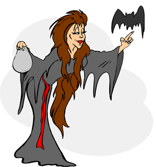 Katie s halloween storynory. Aunt clipart nagging