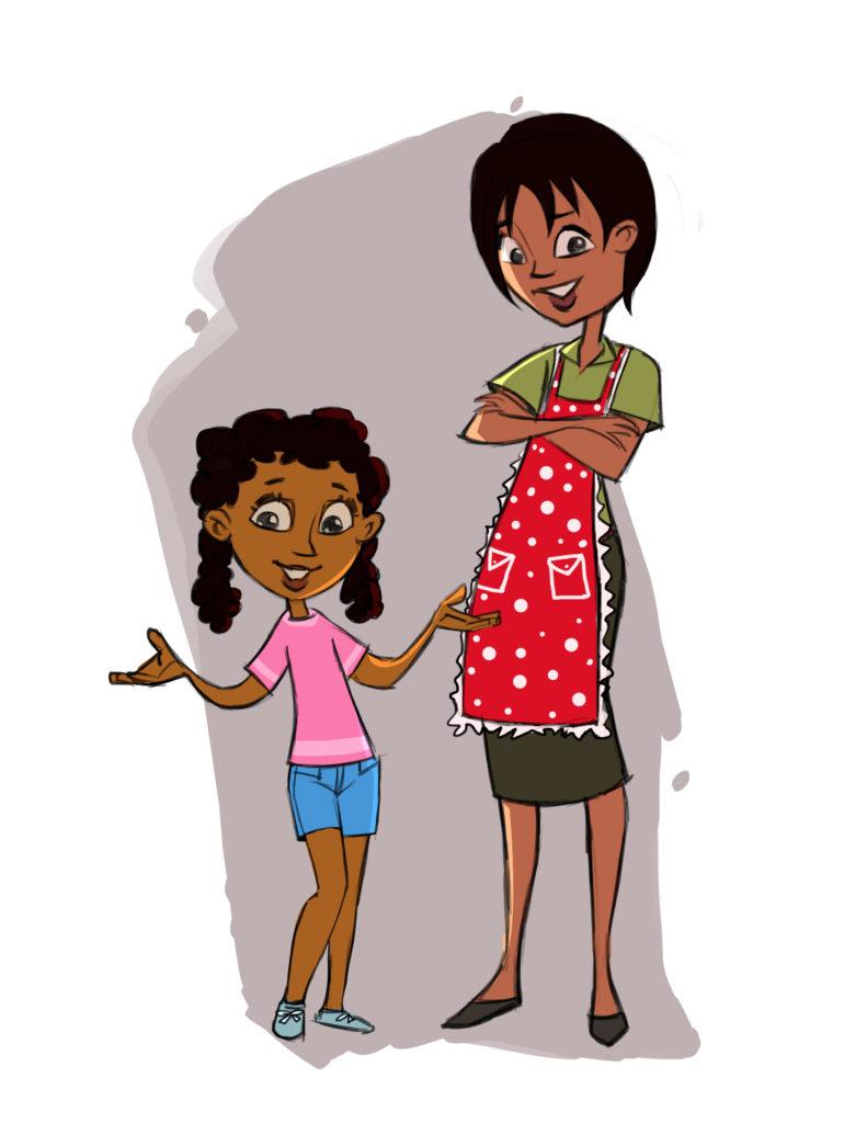 Blog for children gardeners. Aunt clipart professional woman