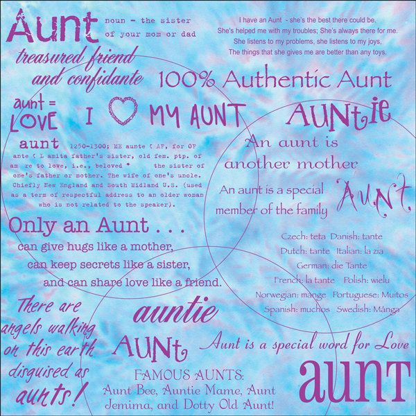 Aunt clipart sister, Aunt sister Transparent FREE for ...