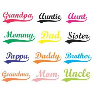 Sports tail family names. Aunt clipart sister