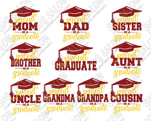 Proud graduate family bundle. Aunt clipart super