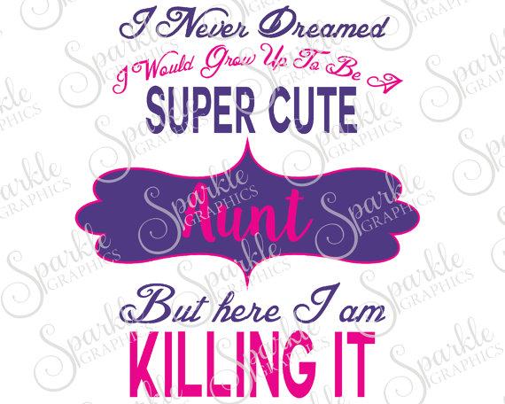 Cute but here i. Aunt clipart super