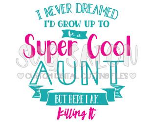 Aunt clipart super cool. Killing it archives svg