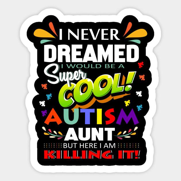 Aunt clipart super cool. Autism awareness t shirt