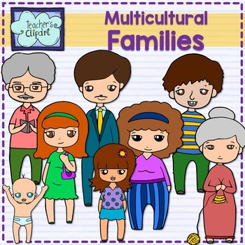 Family . Grandparent clipart multicultural