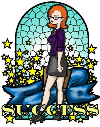 Aunt clipart woman success.  best merit badges