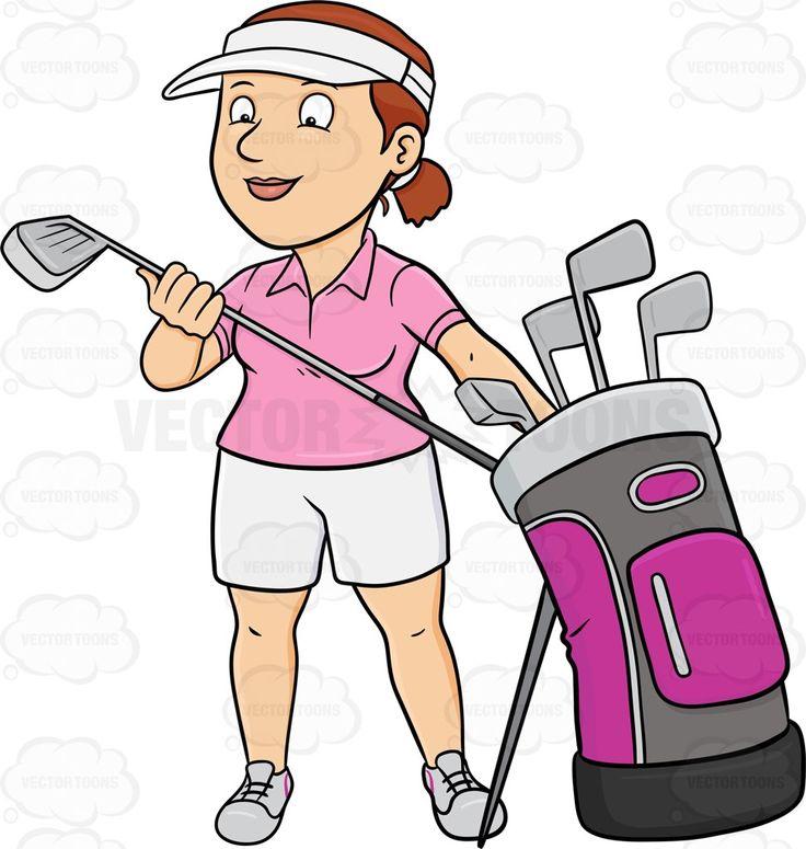 best golf clips. Aunt clipart woman success
