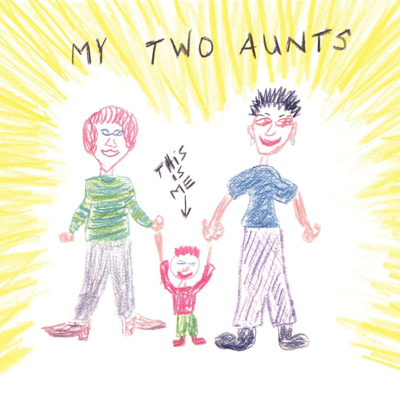 Aunt clipart woman success. My two aunts deb