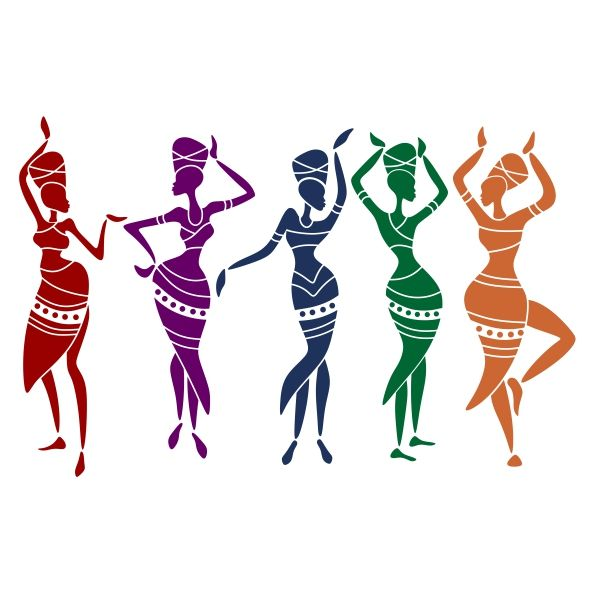 Aunt clipart women's group. Adobe illustrator silhouette at
