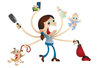 Aunt clipart working mom. Parenting roadblocks what do