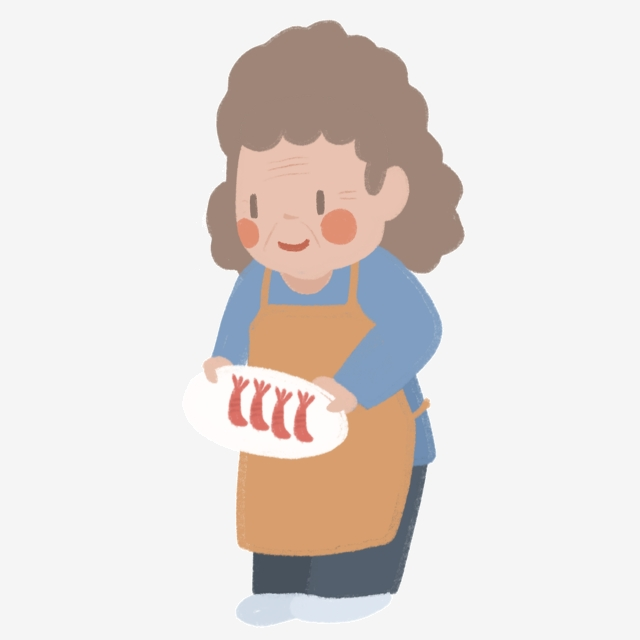 Cartoon holding a dish. Aunt clipart working mom