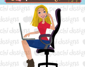 Busy panda free images. Aunt clipart working mom
