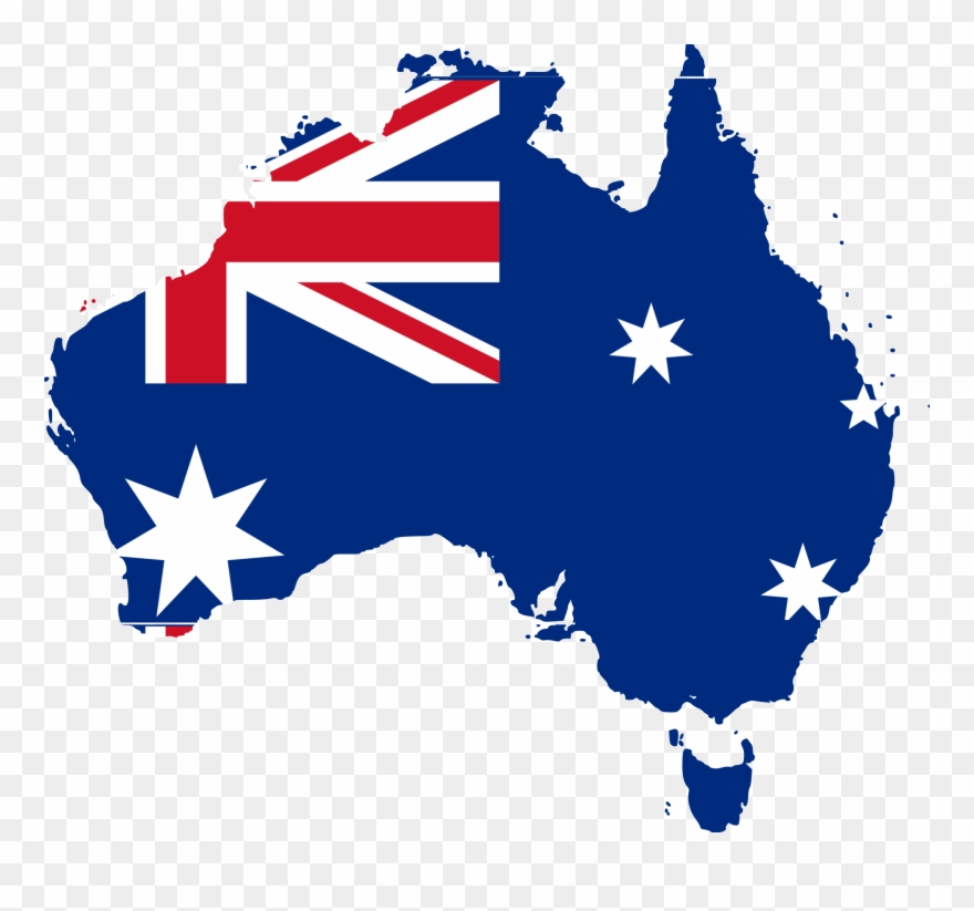 Australia clipart. Australian flag on