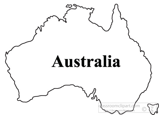 Download map outline major. Australia clipart basic