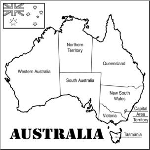 Clip art map b. Australia clipart black and white