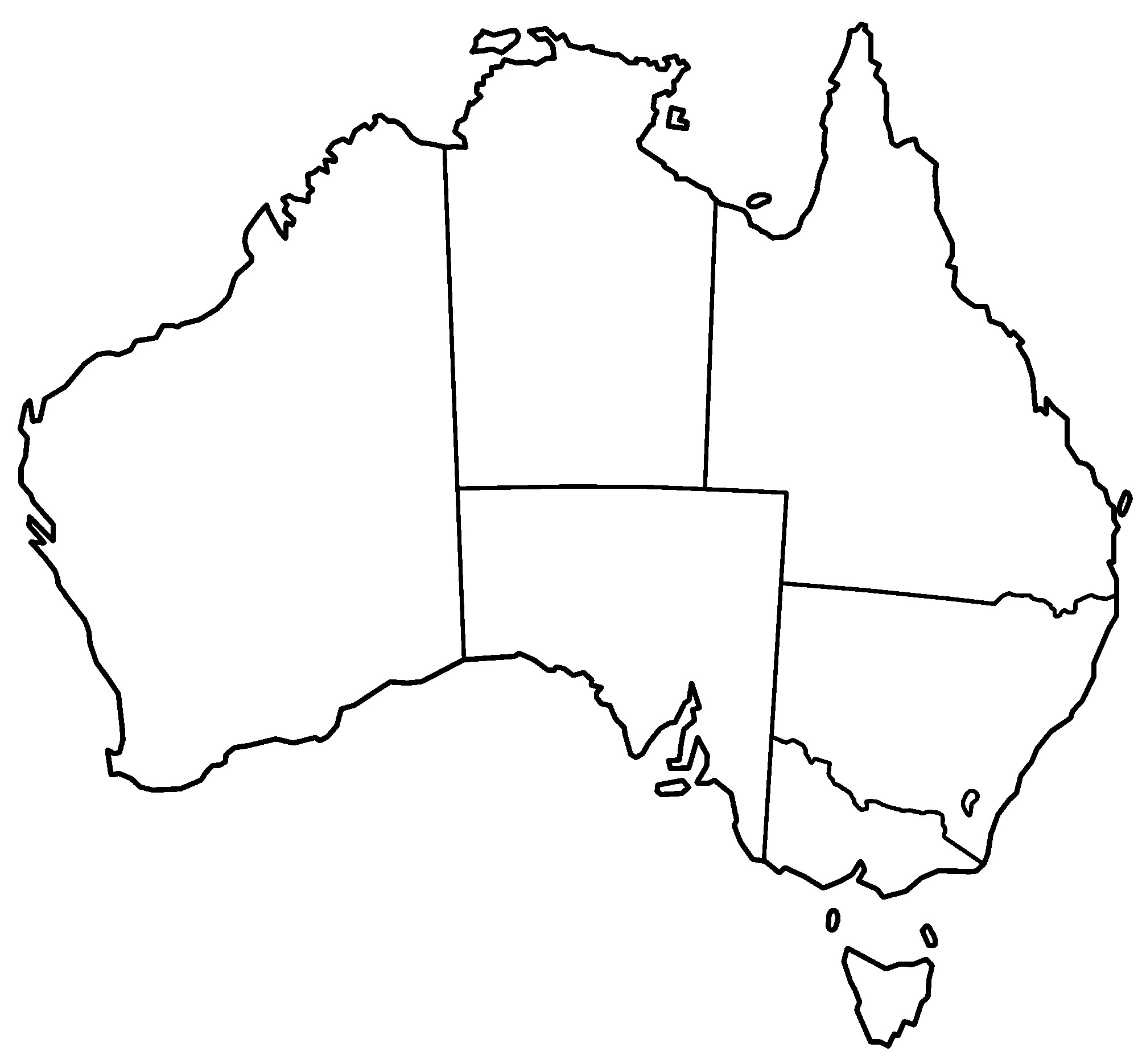 Free printable world map. Australia clipart black and white