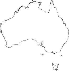 Australia clipart black and white. Map clip art at