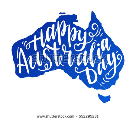 Australia clipart calligraphy. Day station