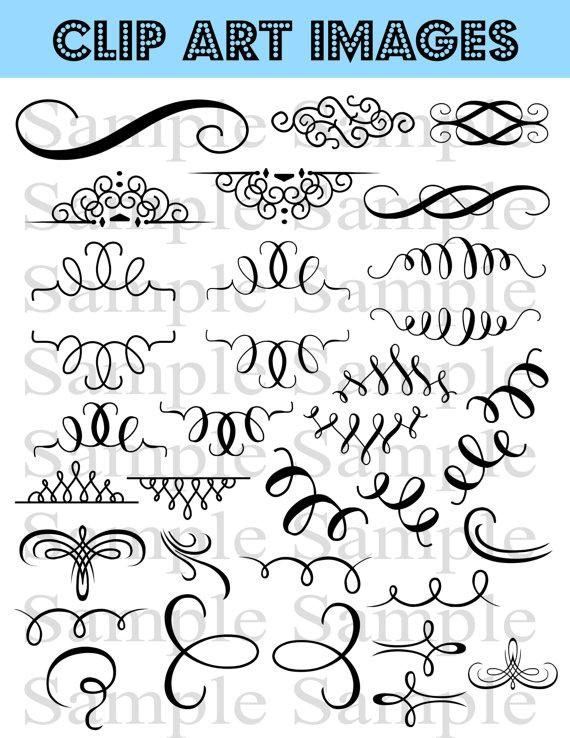 Australia clipart calligraphy. Flourish wedding instant download