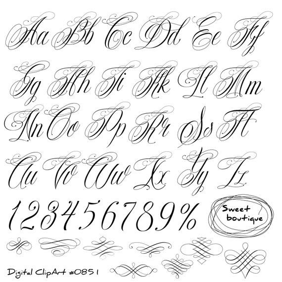Australia clipart calligraphy. Handwritten alphabet clip art