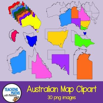 Australia clipart coloured. Maps