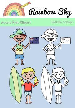 Australia clipart coloured. Free download aussie kids