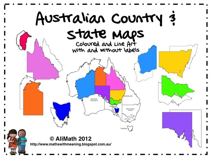 Map this is a. Australia clipart coloured