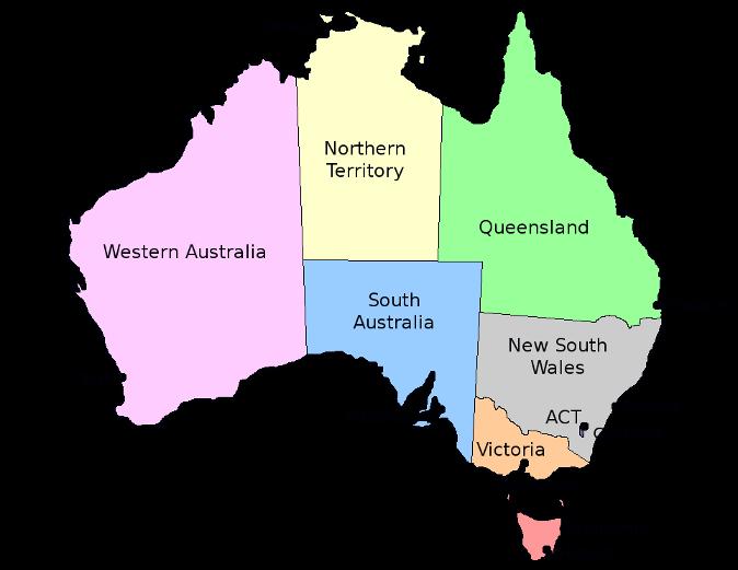 Map of valentinema . Australia clipart coloured