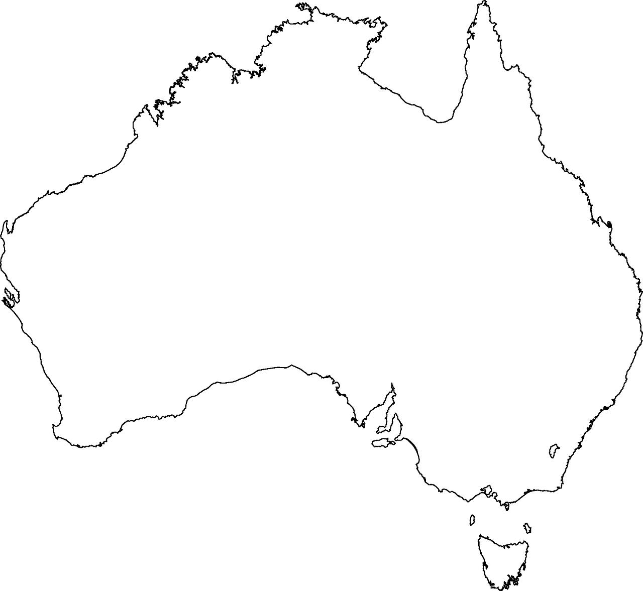 Geography clipart lost map. Australia continent coastlin
