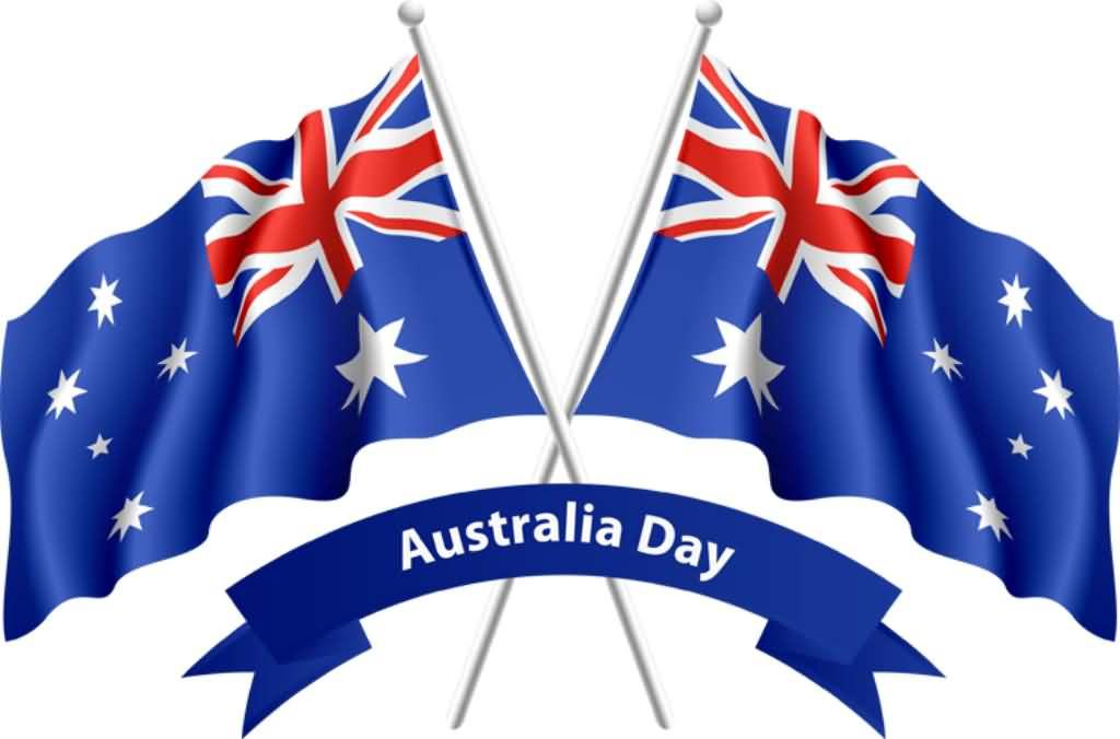 Australian flags cross . Australia clipart day