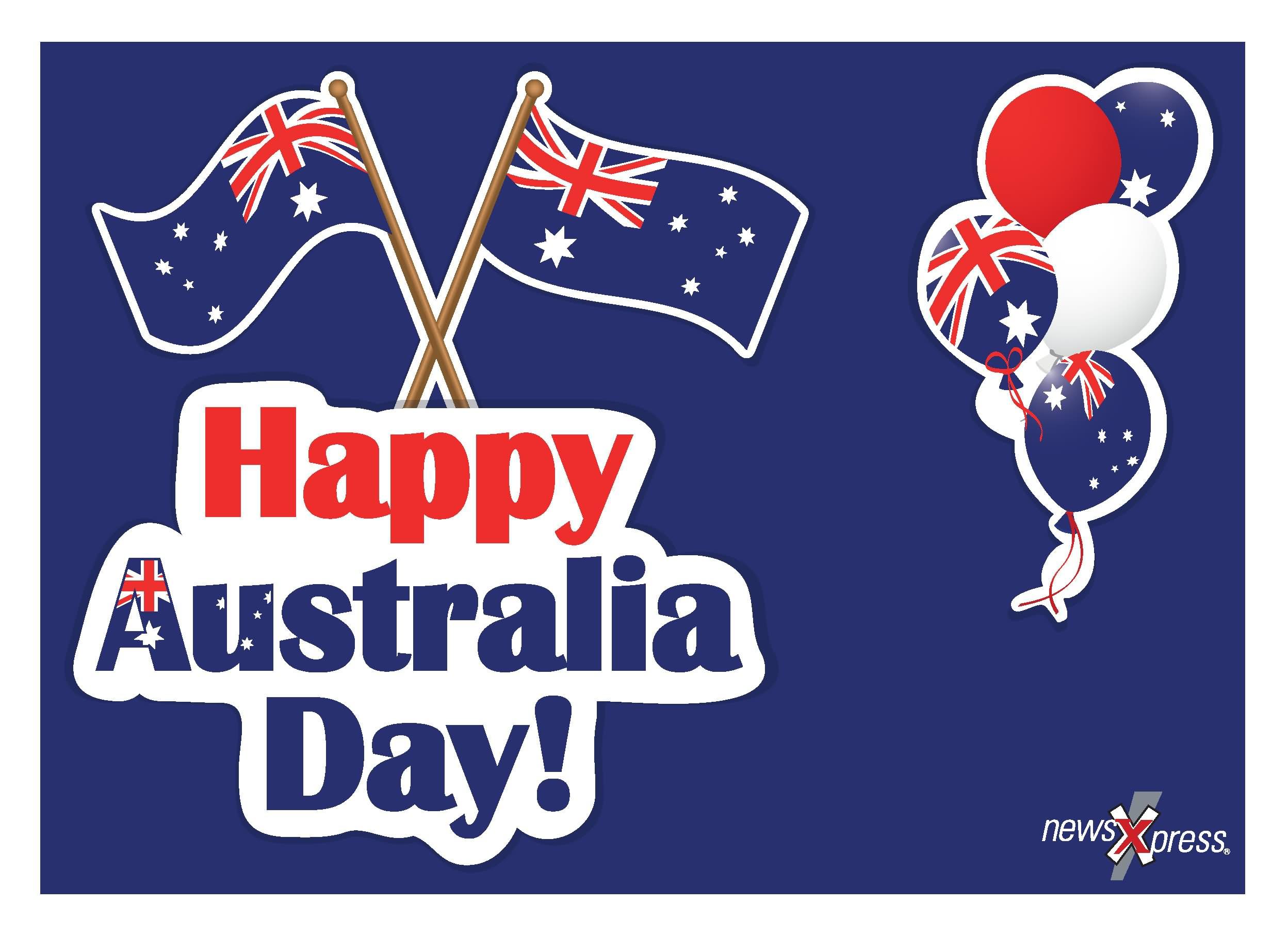 Australia clipart day. Happy wishes