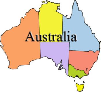 Australia clipart drawing. Map at getdrawings com