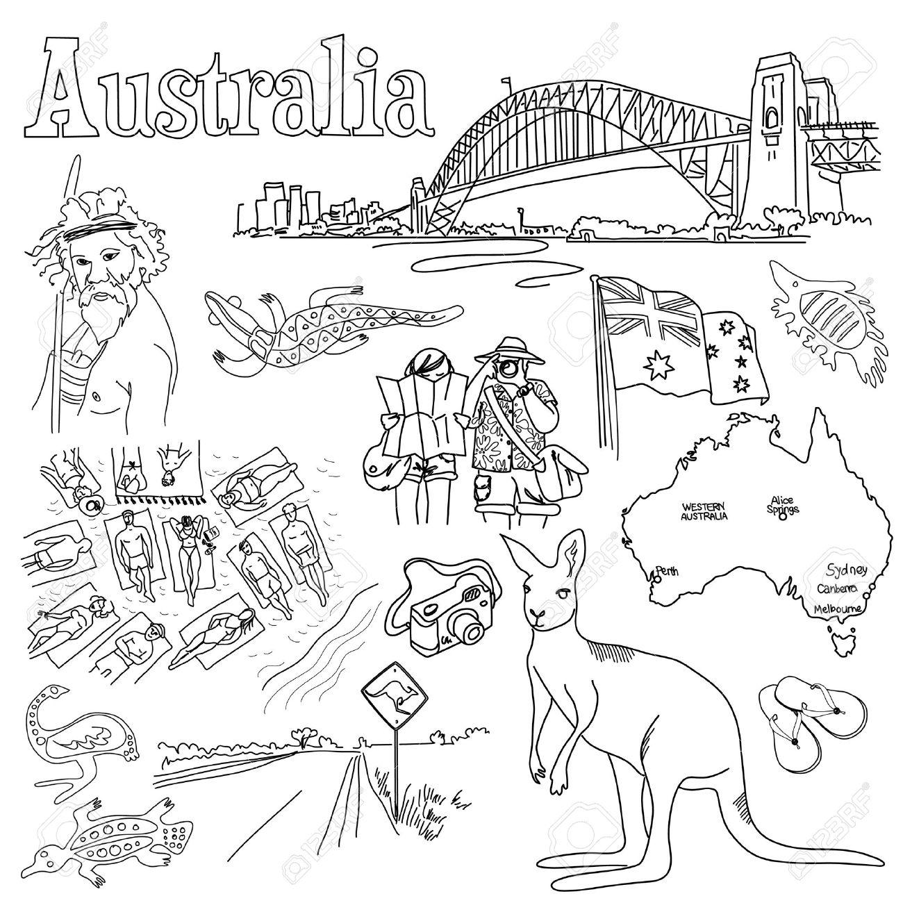 Australia clipart drawing. At getdrawings com free