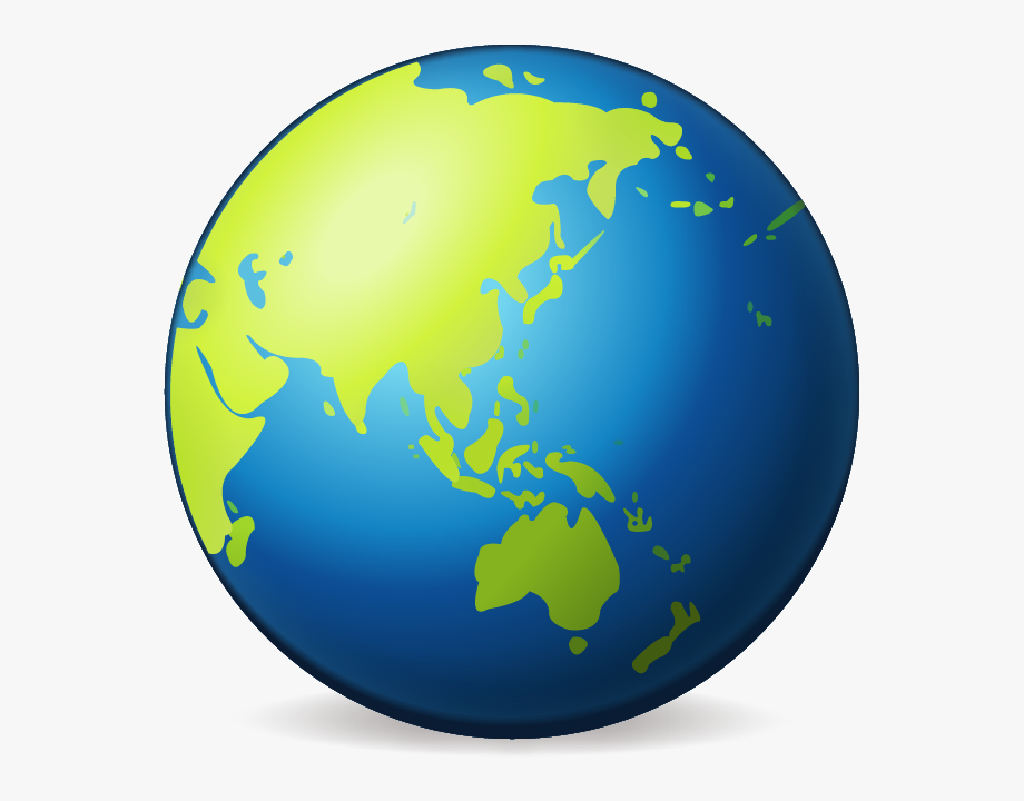 Simple with australia . Planet clipart earth half