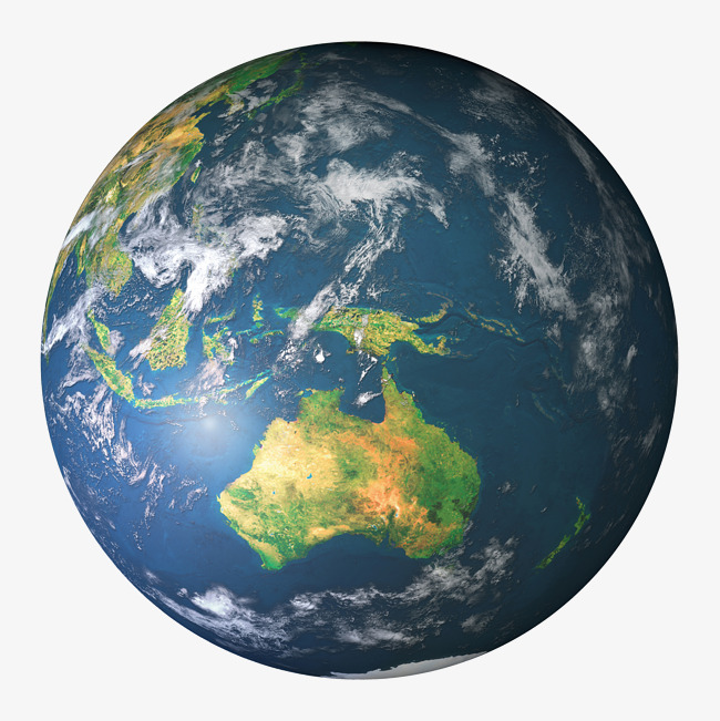 Blue top view png. Australia clipart earth