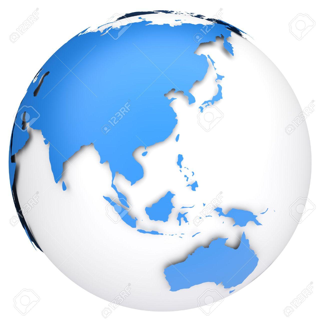 Collection globe d model. Australia clipart earth